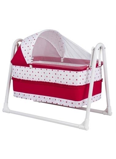 Rival Sepet Beşik Portatif, Bebek Beşiği Sallanır Beşik Kırmızı